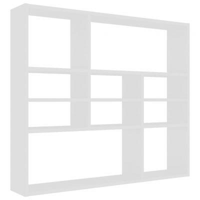 Zidna polica bijela 90 x 16 x 78 cm od iverice