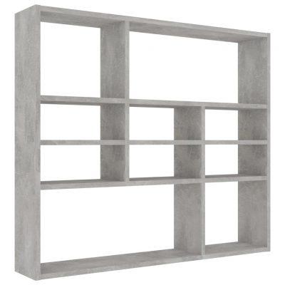 Zidna polica siva boja betona 90 x 16 x 78 cm od iverice