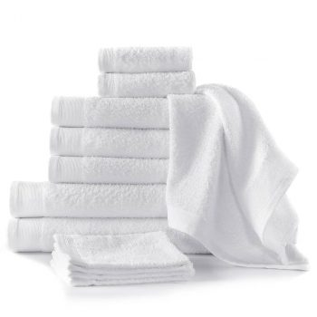 12-dijelni set ručnika pamučni 450 gsm bijeli