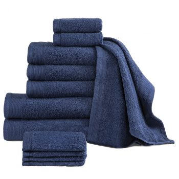12-dijelni set ručnika pamučni 450 gsm modri