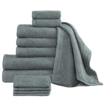 12-dijelni set ručnika pamučni 450 gsm zeleni