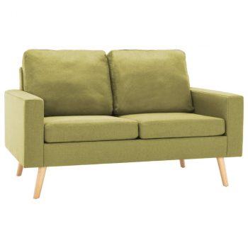 2-dijelni set sofa od tkanine zeleni