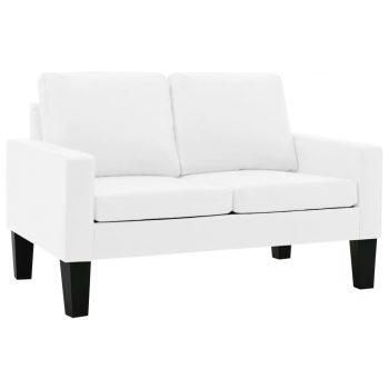 2-dijelni set sofa od umjetne kože bijeli