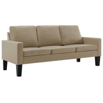 3-dijelni set sofa od umjetne kože boja cappuccina