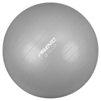 Avento lopta za vježbanje/teretanu promjer 55 cm srebrna