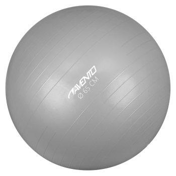 Avento lopta za vježbanje/teretanu promjer 65 cm srebrna
