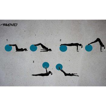 Avento lopta za vježbanje/teretanu promjer 75 cm crna