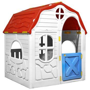 Dječja sklopiva kućica za igru s vratima i prozorima