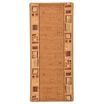Dugi tepih s gelastom podlogom bež 67 x 150 cm