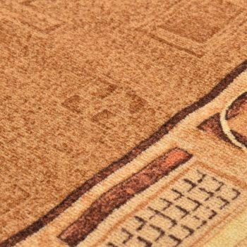 Dugi tepih s gelastom podlogom bež 67 x 400 cm