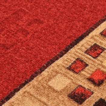 Dugi tepih s gelastom podlogom crveni 67 x 120 cm