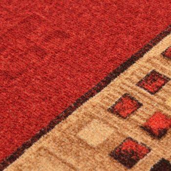 Dugi tepih s gelastom podlogom crveni 67 x 150 cm