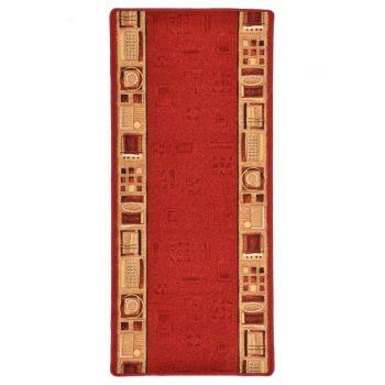Dugi tepih s gelastom podlogom crveni 67 x 200 cm