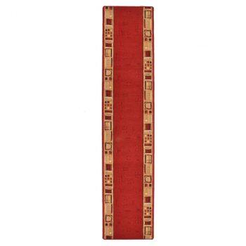 Dugi tepih s gelastom podlogom crveni 67 x 400 cm
