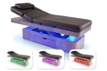 Električna SPA masažna miza z LED kromoterapijo in predalom - A413S