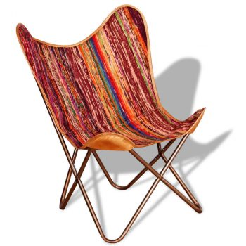 Leptir-stolice 2 kom raznobojne od tkanine chindi