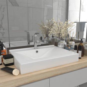Luksuzni umivaonik mat bijeli 60 x 46 cm keramički