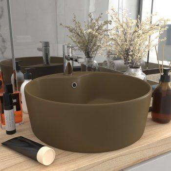 Luksuzni umivaonik mat krem 36 x 13 cm keramički
