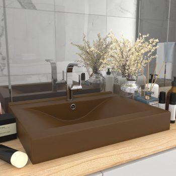 Luksuzni umivaonik mat krem 60 x 46 cm keramički