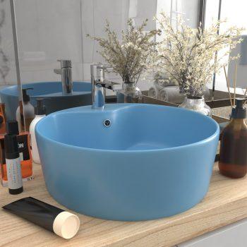 Luksuzni umivaonik mat svjetloplavi 36 x 13 cm keramički