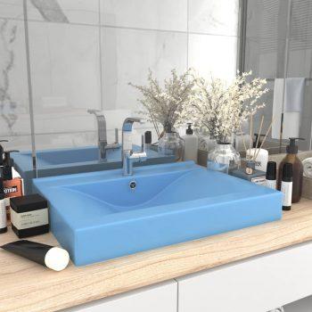 Luksuzni umivaonik mat svjetloplavi 60 x 46 cm keramički