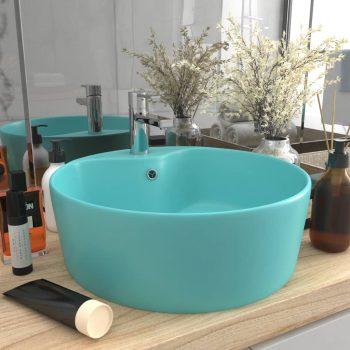 Luksuzni umivaonik mat svjetlozeleni 36 x 13 cm keramički