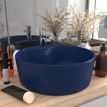 Luksuzni umivaonik mat tamnoplavi 36 x 13 cm keramički