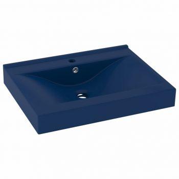 Luksuzni umivaonik mat tamnoplavi 60 x 46 cm keramički