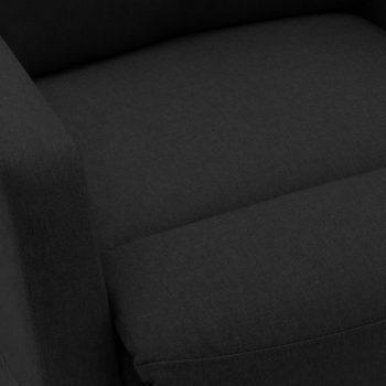 Naslonjač na podizanje od tkanine crni