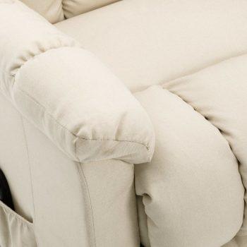 Naslonjač na podizanje od tkanine krem