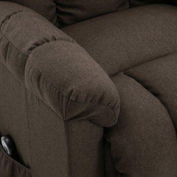 Naslonjač na podizanje od tkanine smeđi