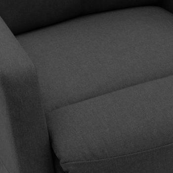 Naslonjač na podizanje od tkanine tamnosivi