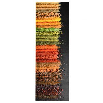 Prostirka za kuhinjski pod s uzorkom začina periva 60 x 180 cm