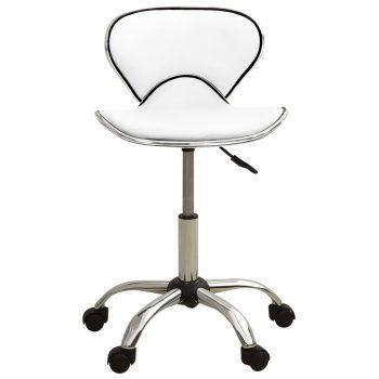 Salonski stolac od umjetne kože bijeli