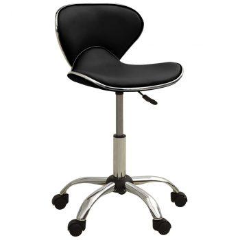 Salonski stolac od umjetne kože crni