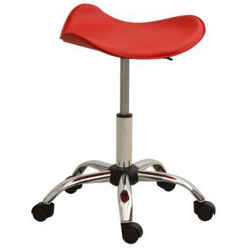 Salonski stolac od umjetne kože crveni
