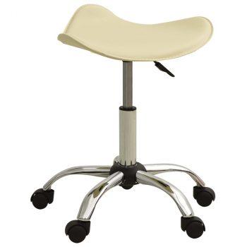 Salonski stolac od umjetne kože krem