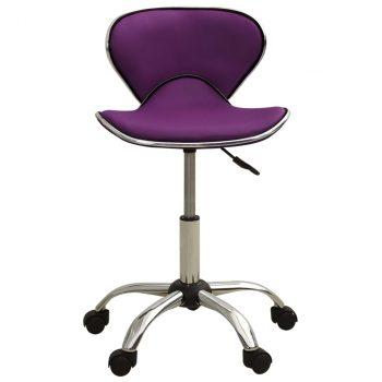 Salonski stolac od umjetne kože ljubičasti