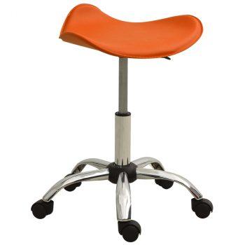Salonski stolac od umjetne kože narančasti