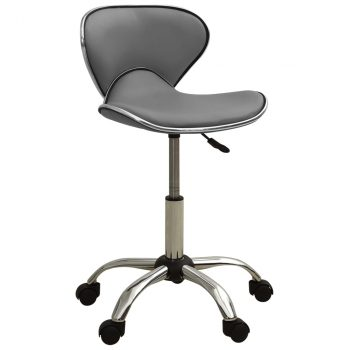 Salonski stolac od umjetne kože sivi