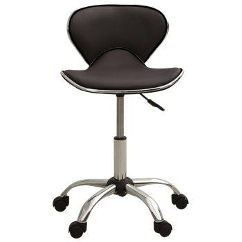 Salonski stolac od umjetne kože smeđi