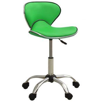 Salonski stolac od umjetne kože zeleni