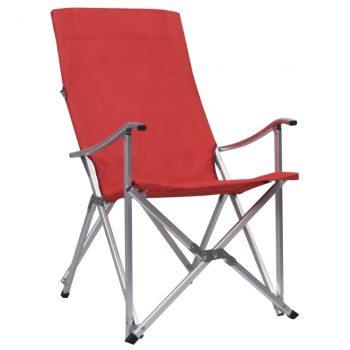 Sklopive stolice za kampiranje 2 kom crvene