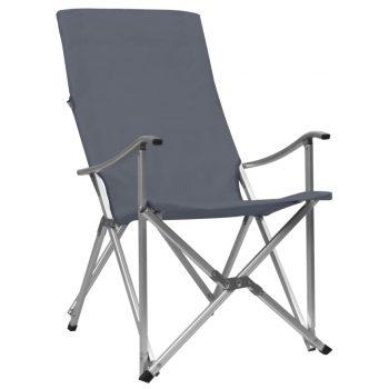 Sklopive stolice za kampiranje 2 kom sive