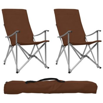 Sklopive stolice za kampiranje 2 kom smeđe