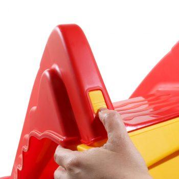 Sklopivi dječji tobogan unutarnji/vanjski crveno-žuti