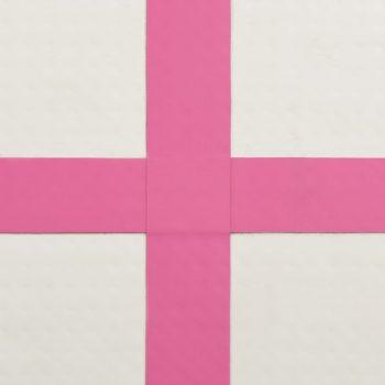 Strunjača na napuhavanje s crpkom 300 x 100 x 20 cm PVC roza