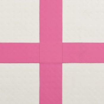 Strunjača na napuhavanje s crpkom 400 x 100 x 20 cm PVC roza