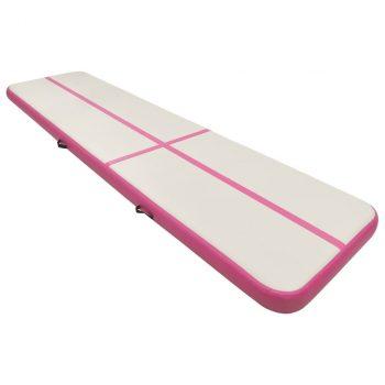 Strunjača na napuhavanje s crpkom 700 x 100 x 15 cm PVC roza