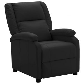 TV fotelja od umjetne kože crna